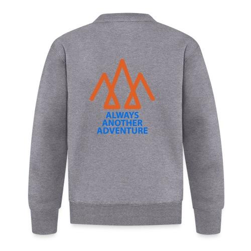 Orange logo, blue text - Unisex Baseball Jacket