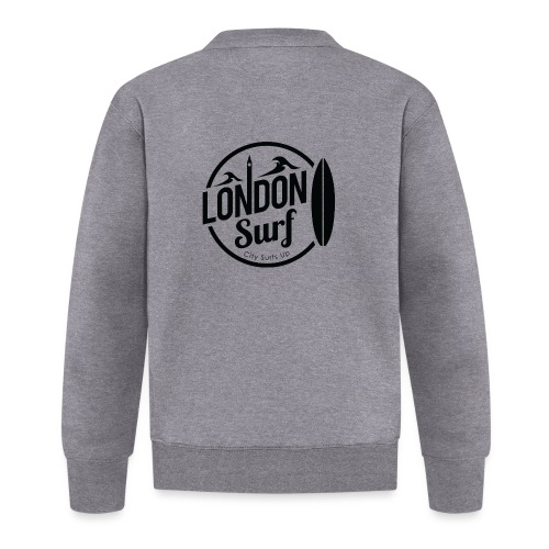 London Surf - Black - Unisex Baseball Jacket
