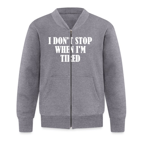 I Dont Stop When im Tired, Fitness, No Pain, Gym - Baseball Jacke