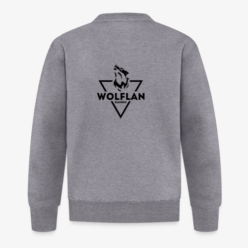 WolfLAN Gaming Logo Black - Baseball Jacket