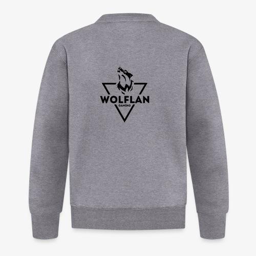 WolfLAN Gaming Logo Black - Unisex Baseball Jacket