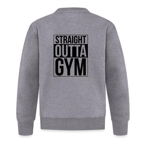 Straight Outta Gym Design. - Unisex Baseball Jacket