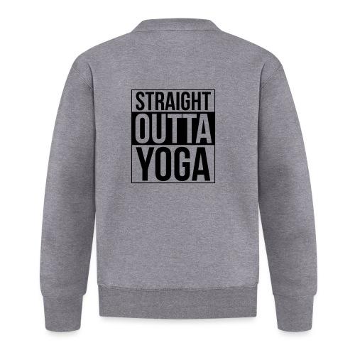 Straight Outta Yoga Design - Unisex Baseball Jacket