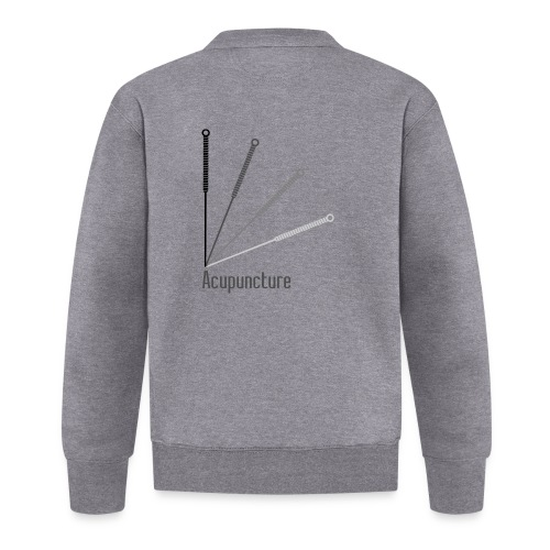 Acupuncture Eventail (logo noir) - Veste zippée Unisexe