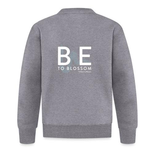 be to blossom swoosh (white) - Unisex Baseball Jacket