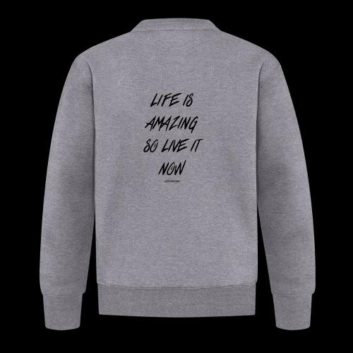Life is amazing Samsung Case - Unisex Baseball Jacket