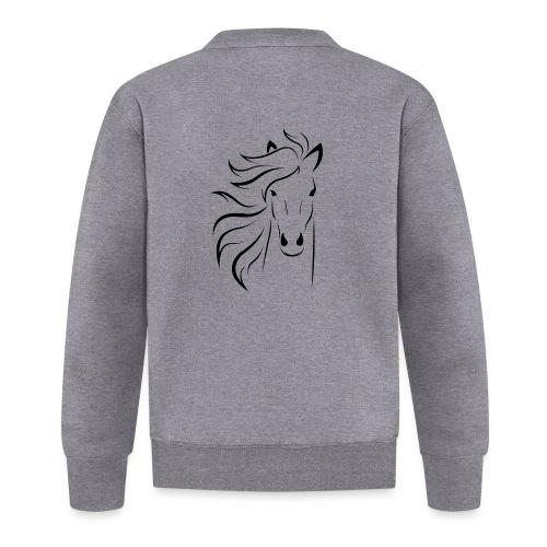 pferd silhouette - Baseball Jacke