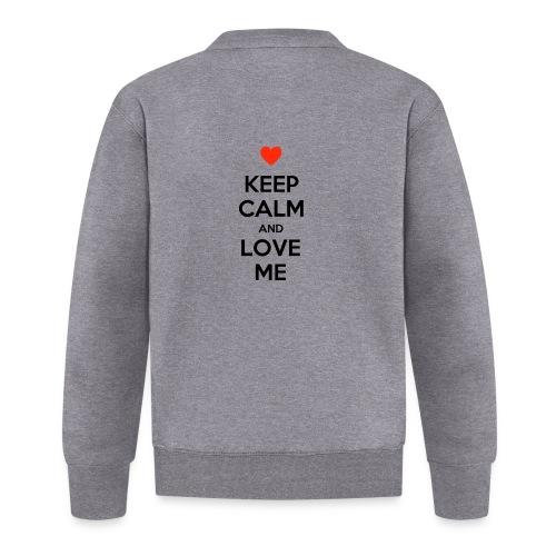 Keep calm and love me - Felpa da baseball