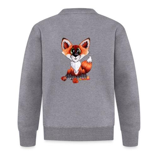 llwynogyn - a little red fox - Baseball Jacket