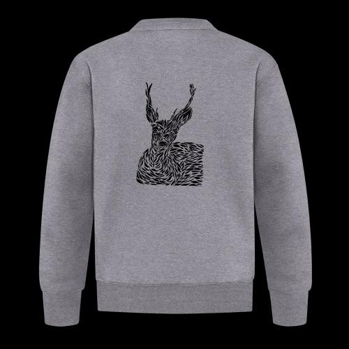 deer black and white - Unisex baseball-takki
