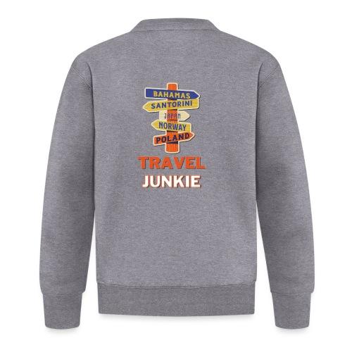 traveljunkie - i like to travel - Unisex Baseball Jacke