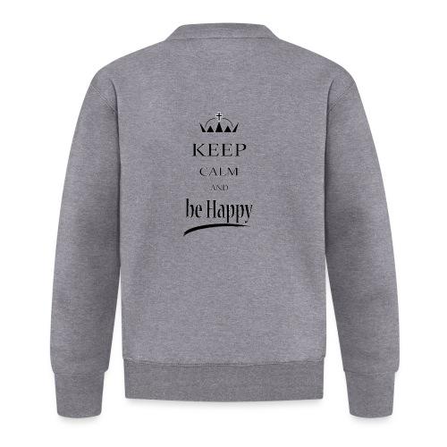 keep_calm and_be_happy-01 - Felpa da baseball unisex