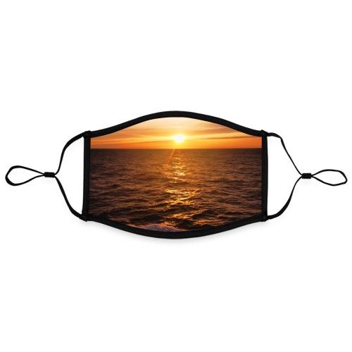 Sonnenuntergang Mittelmeer Welle Meer Sonne Poster - Kontrastmaske, einstellbar (Large)