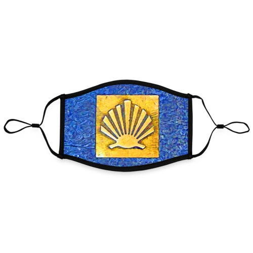 Scallop Shell Camino de Santiago - Contrast mask, adjustable (large)