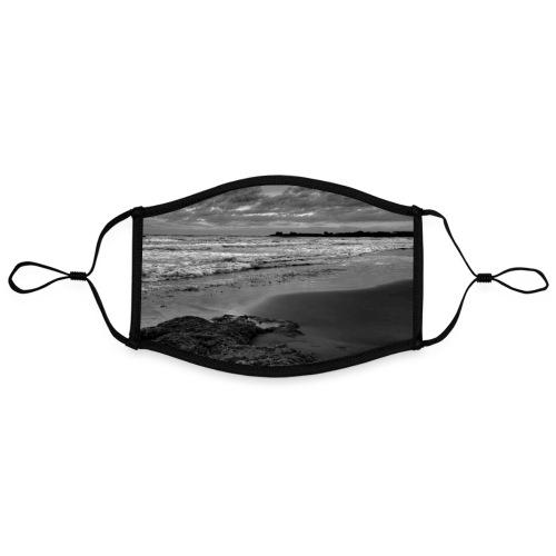 Steine Strand Meer Sizilien Schwarz Weiß Natur - Kontrastmaske, einstellbar (Large)