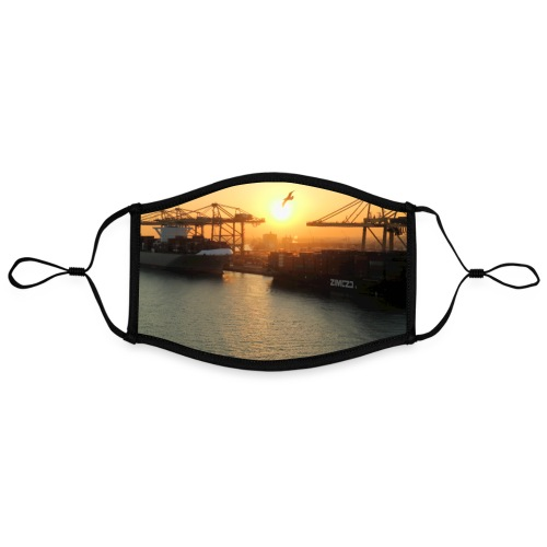 Sonnenuntergang Hafen Barcelona Hafenidylle Meer - Kontrastmaske, einstellbar (Large)