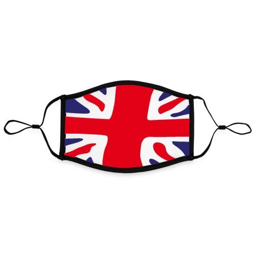 British face mask custom print FanMASK - Contrast mask, adjustable (large)