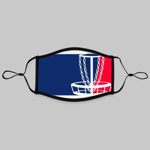 Disc golf - Kontrastivärinen maski, säädettävä (large)