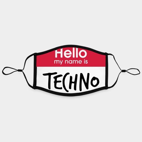 Hello, my name is TECHNO - Kontrastmaske, einstellbar (Large)