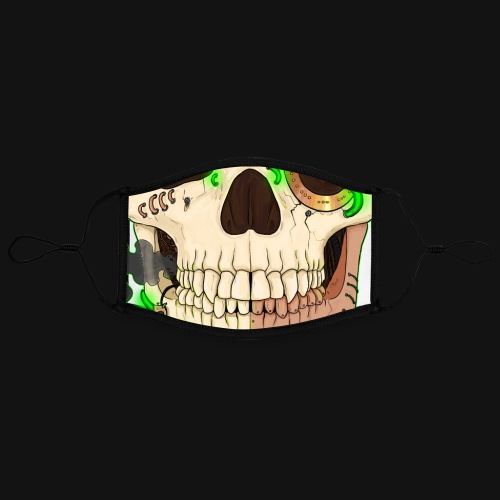 Crâne steampunk - Masque contrasté, réglable (taille L)