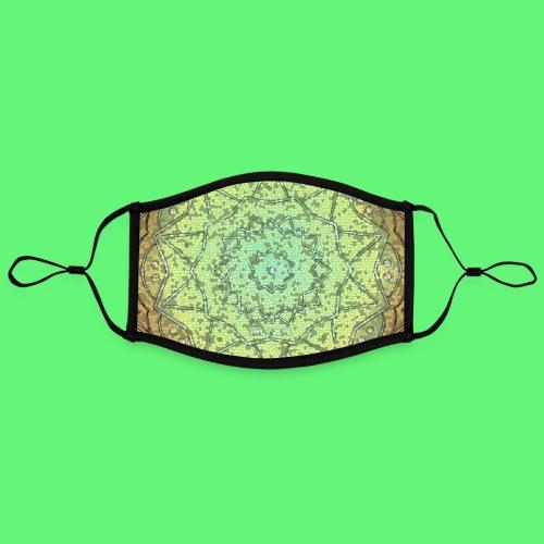 mascarilla mosaico de rosa - Mascarilla contraste, ajustable (grande)