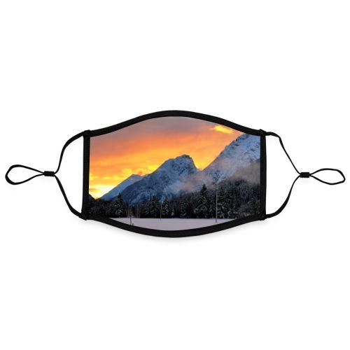 Sonnenuntergang Winterlandschaft Österreich Tirol - Kontrastmaske, einstellbar (Large)