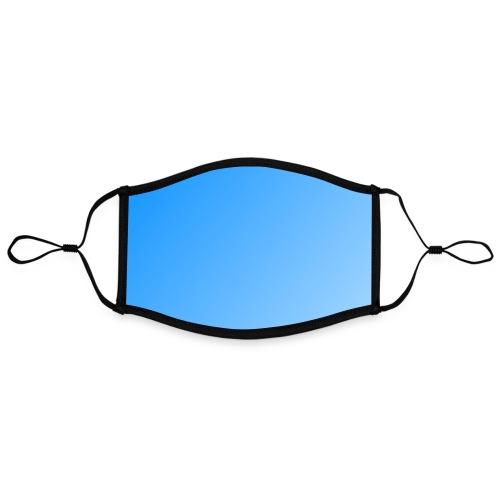 Masque bleu clair - Masque contrasté, réglable (taille L)