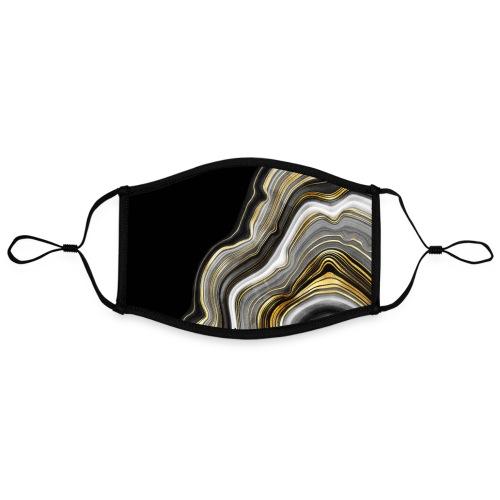 Agate vagues gris et or - Masque contrasté, réglable (taille L)