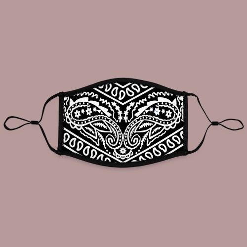 Motif bandana noir masque gangster - Masque contrasté, réglable (taille L)