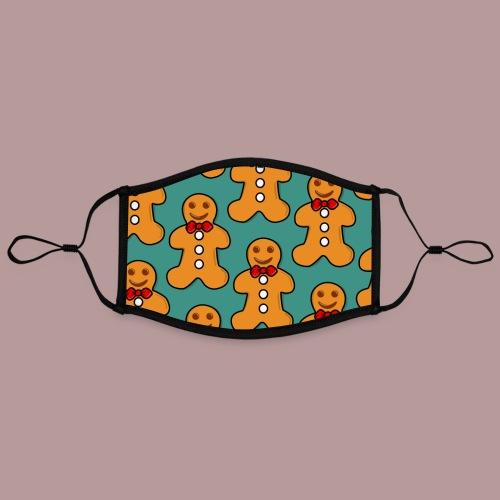 Masque motif petit biscuit de noël - Masque contrasté, réglable (taille L)