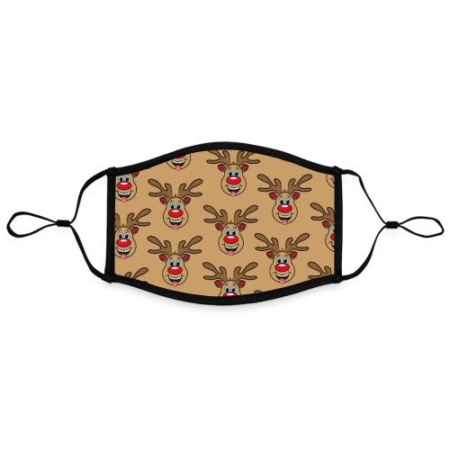 Ugly Xmas Brown Rudi - Kontrastmaske, einstellbar (Large)