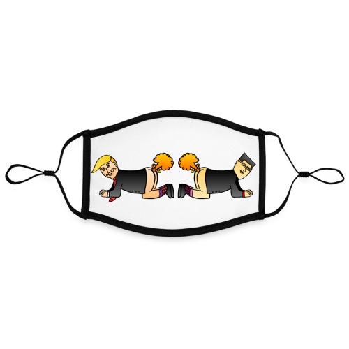 Trump Kim Logo - Masque contrasté, réglable (taille L)