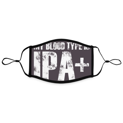 My Blood Type Is IPA + - Kontrastowa maska, regulowana (rozmiar L)