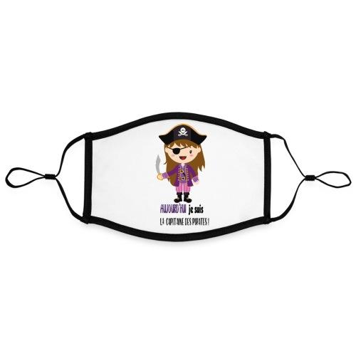 Pirate FILLE - Masque contrasté, réglable (taille L)