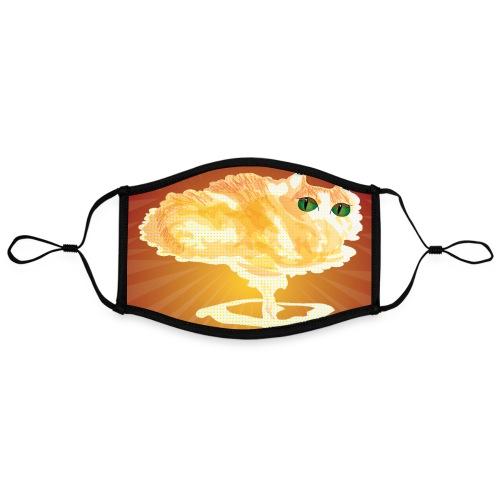Atomic Cat maskerdesign - Contrasterend mondkapje, instelbaar (Large)