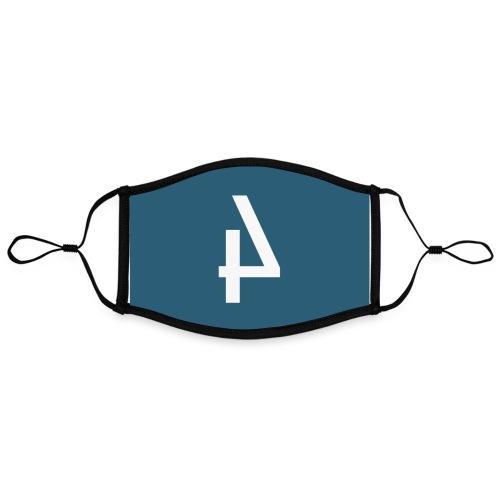 Het Spoor 4 logo klein - Contrasterend mondkapje, instelbaar (Large)