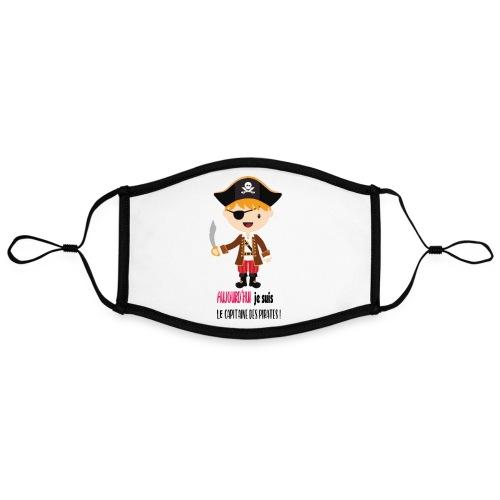 Pirate Garcon - Masque contrasté, réglable (taille L)