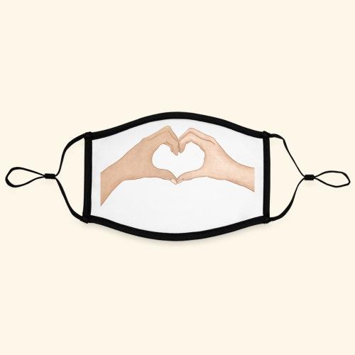 Mains Coeur Amour - Love hands - Masque contrasté, réglable (taille L)