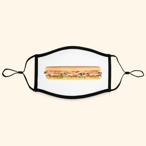 kisspng cheeseburger ham and cheese sandwich - Contrasterend mondkapje, instelbaar (Large)