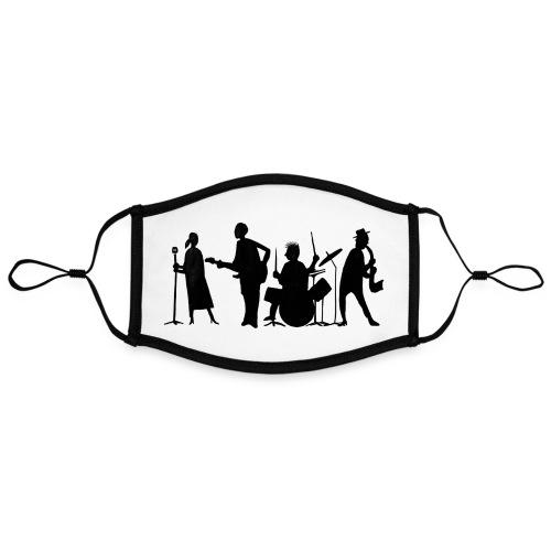 jazz - Kontrastivärinen maski, säädettävä (large)