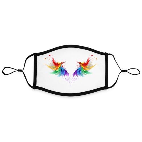 Ailes d'Archanges aux belles couleurs vives - Masque contrasté, réglable (taille L)