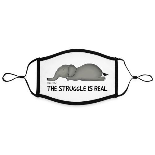 Amy's 'Struggle' design (black txt) - Contrast mask, adjustable (large)