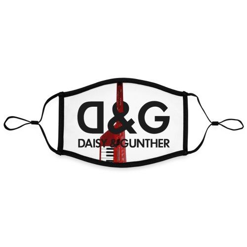 Met keytar-logo - Contrasterend mondkapje, instelbaar (Large)