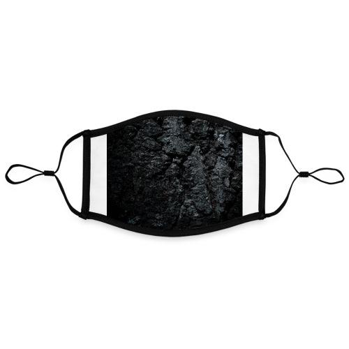 Charcoal stone - Contrasterend mondkapje, instelbaar (Large)