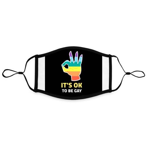 Mascarilla Pride | Orgullo Gay LGTBI | MADO - Mascarilla contraste, ajustable (grande)