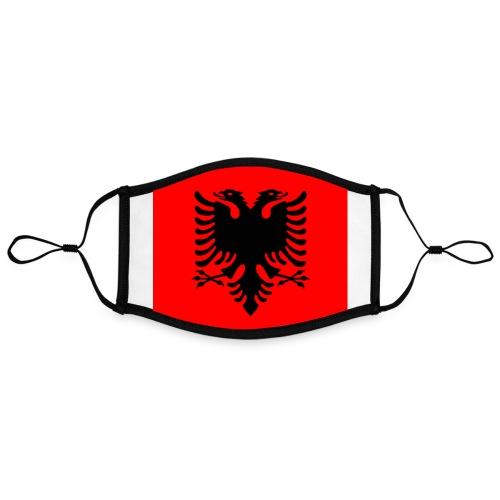 #ALBANIA By #ZEROMASKS≠ - Mascherina in contrasto cromatico, regolabile (grande)