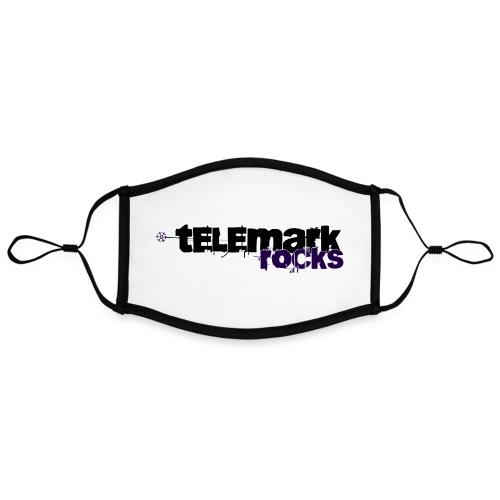telemark rocks blau - Kontrastmaske, einstellbar (Large)