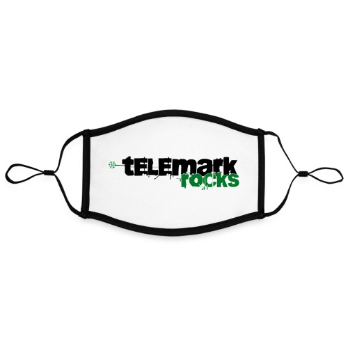 telemark rocks grün - Kontrastmaske, einstellbar (Large)