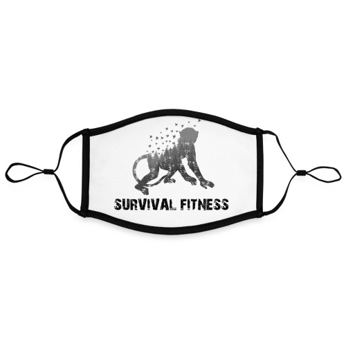 Survival Fitness Logo Schwarz - Kontrastmaske, einstellbar (Large)