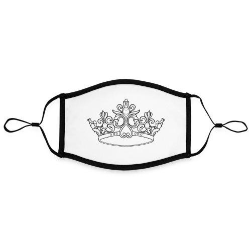 koningin kroon - Contrasterend mondkapje, instelbaar (Large)